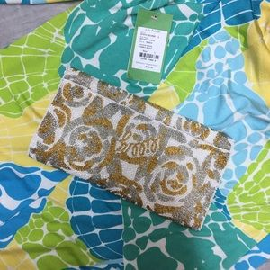 Lilly Pulitzer beaded clutch