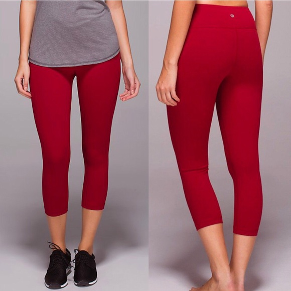 169a28450ad17c lululemon athletica Pants - Lululemon Cranberry Wunder Under Crops Skinny  Pant