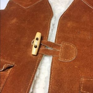 Sears Other - Vtg Sears Cowboy/girl Suede Sherpa Vest SZ unisex
