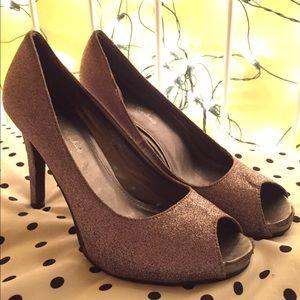 Gabriella Rocha Shoes - Silver Glitter Heels