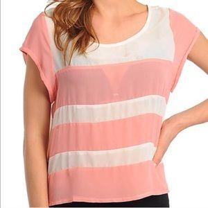 Tops - Peach and Cream Striped top