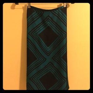 Express Silk Pencil Skirt