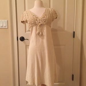 Cream Small sweater dress by Manoush
