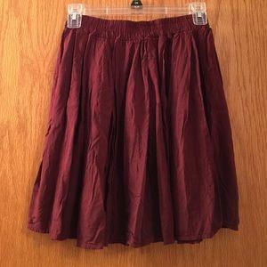 Brandy Melville Dresses & Skirts - Brandy Melville burgundy skirt