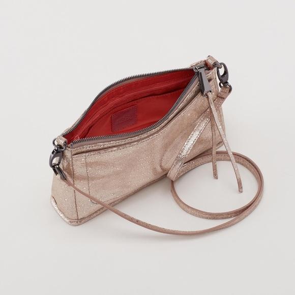 62814e0d4f66 NWT -HOBO Cadence Crossbody Bag (Platinum Exotic)