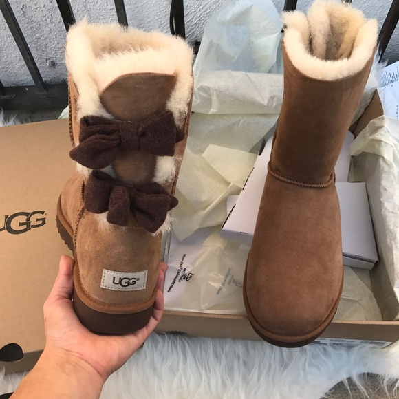 349541f555c UGG Brigette double Bow limited edition boots sz 8 NWT