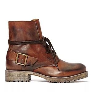 NWT 7.5 Jeffrey Campbell Brown Leather Boots