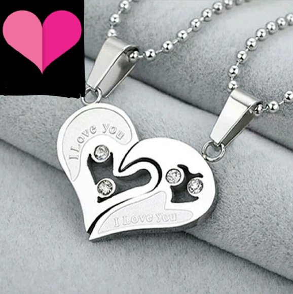 5c3879cb06 Unbranded Jewelry | His Hers Necklace I Love You Romantic Gift ...