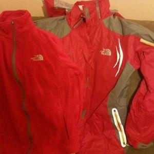 Ladies Brand new Northface 2 piece coat