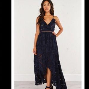 AKIRA Dresses & Skirts - 🍾Host pick 🍾 AKIRA long LACE FLORAL ROMPER DRESS