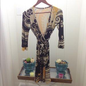 Julie Brown Dresses & Skirts - Paisley Print Silk Wrap Dress