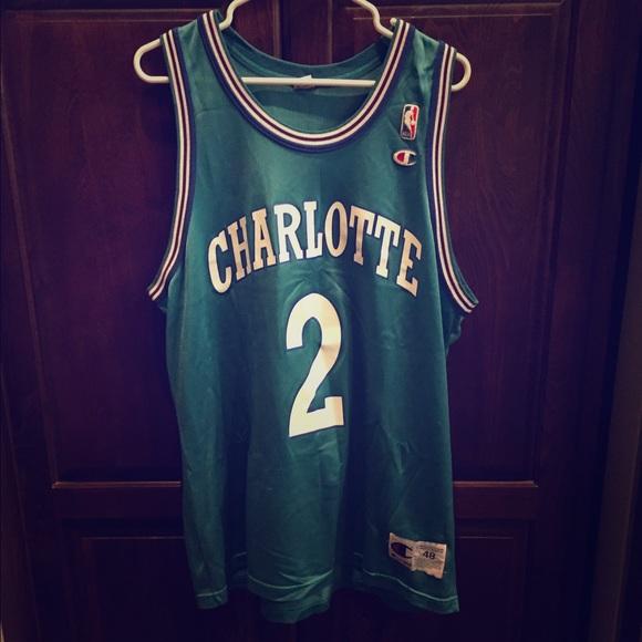 Charlotte Hornets Jersey Larry Johnson 964f43e98