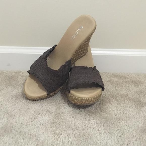 9ac01e9f0f7 Aldo Shoes - Aldo Slide Wedges