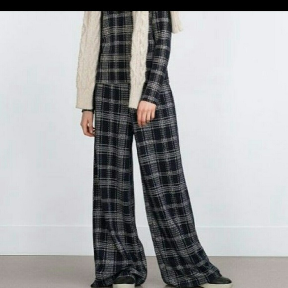 Zara - Zara wide leg plaid pants from Diana's closet on Poshmark