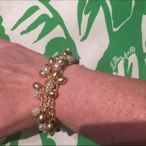 GWP Lilly Pulitzer pearl and gold bracelet!