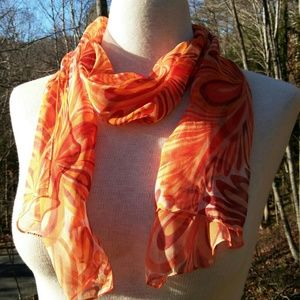 2for1 SHEER Swirly Scarf