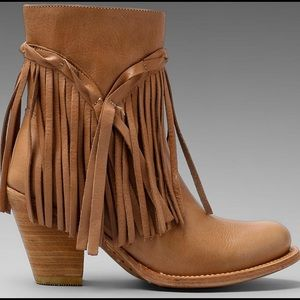 Free People Shoes - Matisse Rumour Fringe Boots Booties Natural  6
