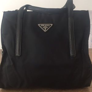 Prada handbag in black nylon
