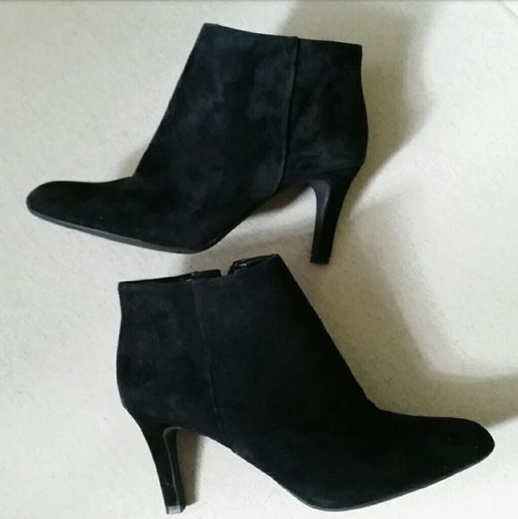 04924822961 Alex Marie Shoes - 💕 Alex Marie Black Suede Ankle Booties Size 9M