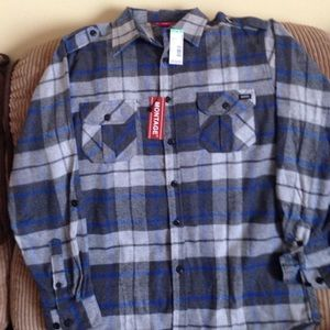 NWT young men's flannel