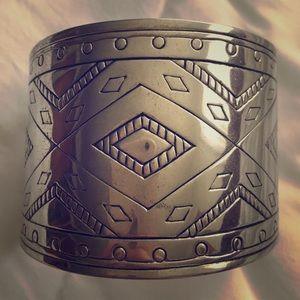 Silver western cuff