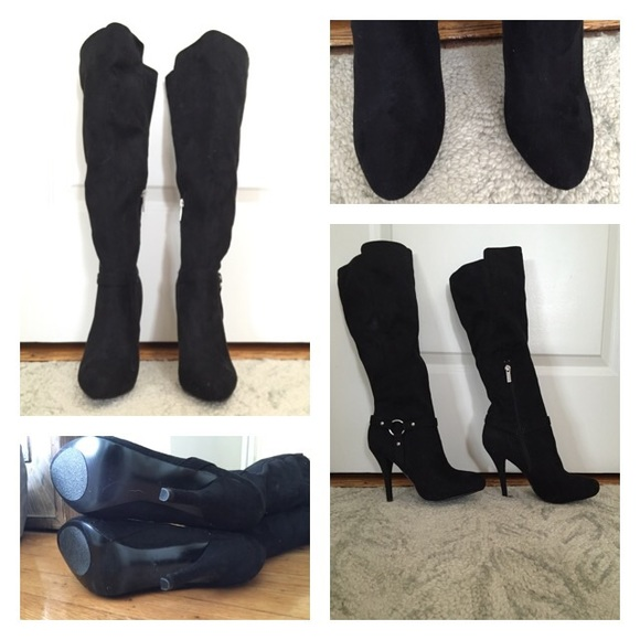 4e49e9c52c8 Guess Shoes - 🚩New Guess knee high platform suede like boots
