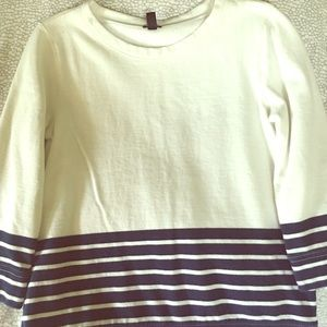 J. Crew Tops - J.Crew navy & cream stripe sweater