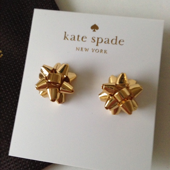 49f42d040c7c4 New Kate Spade Bourgeois Gold Bow Earring Gift🎁 Boutique
