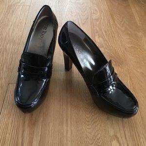 New Me Too black patent heels