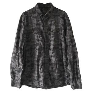 Kenneth Cole Camo Button Up Shirt