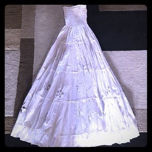 Boss Black Dresses & Skirts - Long Boho  white skirt or dress