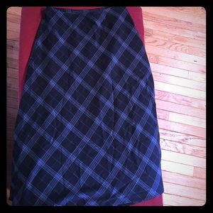 croft & barrow Dresses & Skirts - Size 12 Croft and Barrow navy plaid maxi skirt