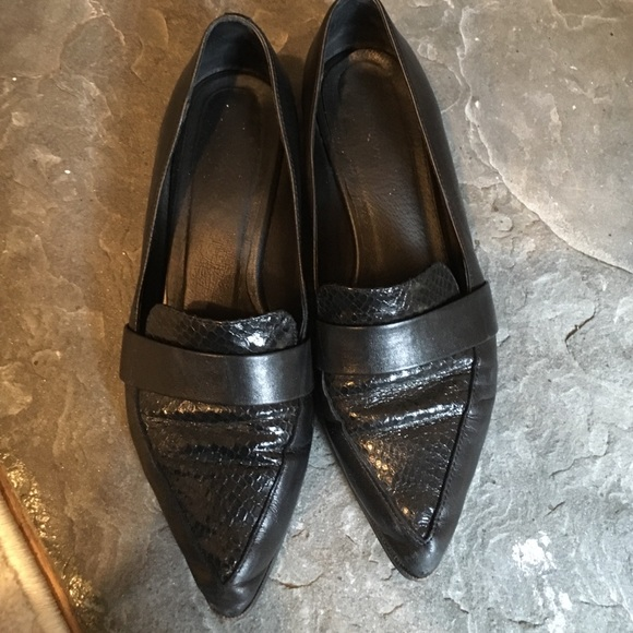 c3ed1977894dc pure navy Shoes   Black Leather Loafers   Poshmark