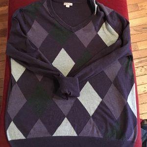 Merona Sweaters - Purple and grey argyle plaid sweater size L