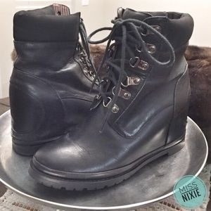 80%20 Shoes - Hidden Wedge Leather Hiker