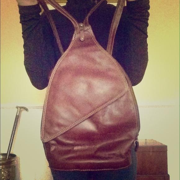 0851909ab chaos Handbags - Genuine leather split sling backpack purse hybrid