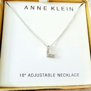 "Anne Klein Jewelry - NIB Crystal ""L"" Necklace"