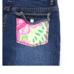 Lilly Pulitzer Bottoms - LILLY PULITZER GIRL'S PRINT POCKET JEANS SZ 14