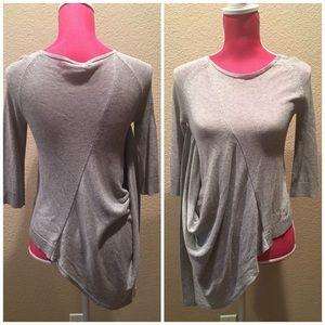 Theory Sweaters - Theory Asymmetric Hem Gray Sweater