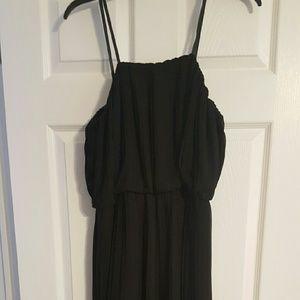 Pleated hi low dress
