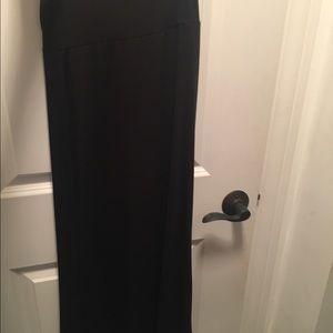 Plain black maxi skirt