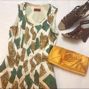 Hugo Boss Dresses & Skirts - 💕HP💕HUGO BOSS Silk Pleated Tribal Dress Gold
