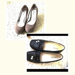 bundle of shoes: michael kors and guess