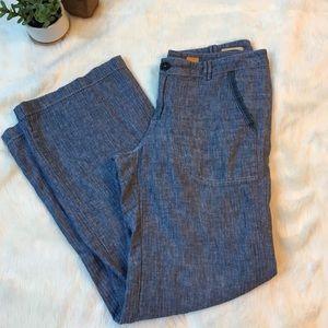 Anthropologie Pants - Anthropologie Linen wide leg pants