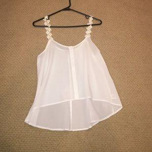 Double Zero (brand) sheer white top
