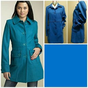 SALEMODCLOTH TULLE BLUE WOOL BLEND COAT