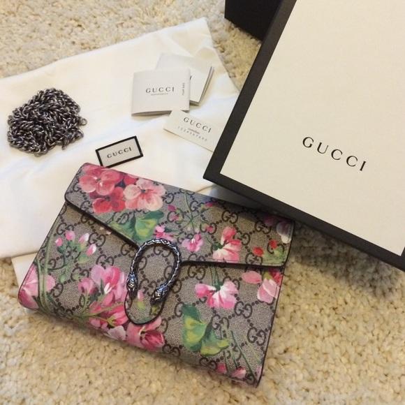 Gucci Bags   Dionysus Pink Blooms Chain Bag   Poshmark 8dcd4f5bf1