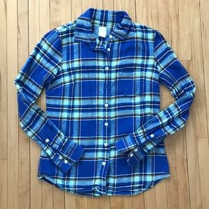 JCrew Plaid Flannel Button Down Shirt, XS