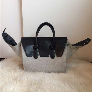 Celine Canvas Tie Bag Handbag Purse