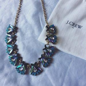 J. Crew Crystal Statement Iridescent Necklace